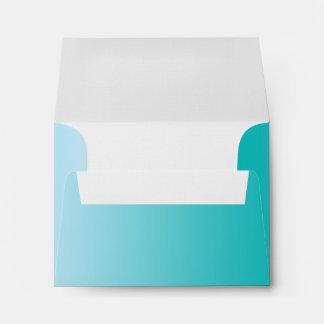 Teal Ombre A2 Linen Envelope