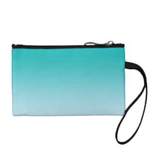Teal Ombre Change Purse