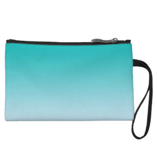 Teal Ombre Wristlet