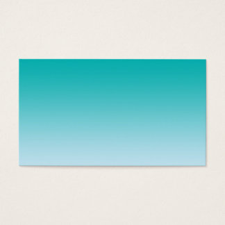 Teal Ombre Business Card
