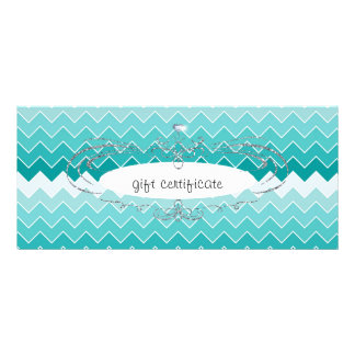 Teal Ombre Chevron : Gift Certificate Rack Cards