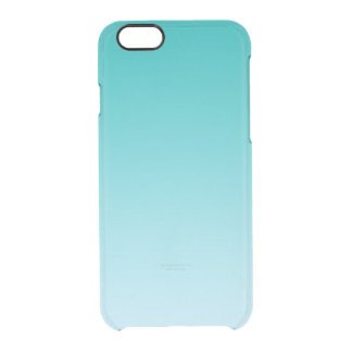 Teal Ombre Clear iPhone 6/6S Case