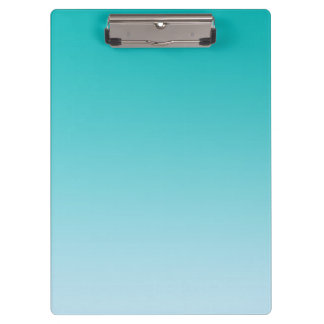 """""""Teal Ombre"""" Clipboard"""