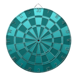 Teal Ombre Dartboard With Darts