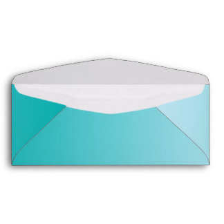 Teal Ombre Envelope