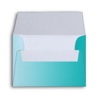 Teal Ombre Envelope