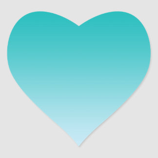 Teal Ombre Heart Sticker