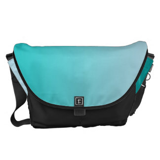Teal Ombre Large Courier Bag