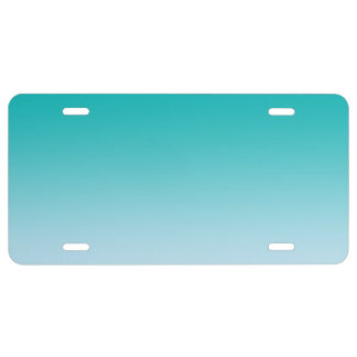 """""""Teal Ombre"""" License Plate"""
