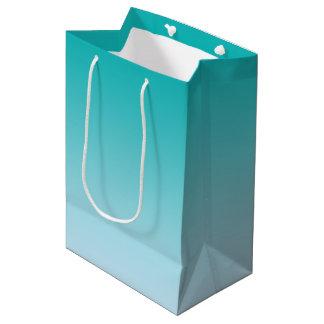 Teal Ombre Medium Gift Bag