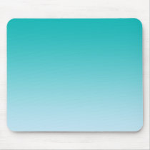 """Teal Ombre"" Mouse Pad"