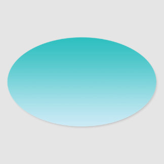 Teal Ombre Oval Sticker
