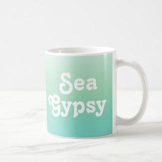 Teal Ombre Sea Gypsy Coffee Mug Basic White Mug