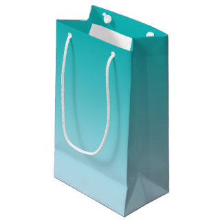 Teal Ombre Small Gift Bag