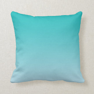 """Teal Ombre"" Throw Pillow"