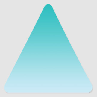 Teal Ombre Triangle Sticker
