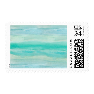 Teal Ombre Watercolor Postage