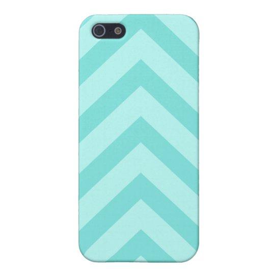 Teal or aqua chevron zigzag pattern iPhone case