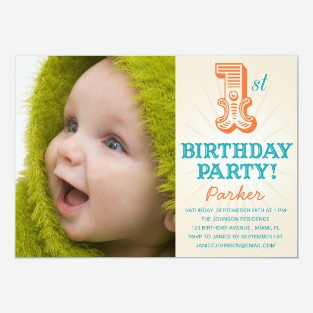 Custom Baby first birthday Invites Templates – First Birthday Invitations Templates