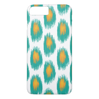 Teal Orange Abstract Tribal Ikat Circle Pattern iPhone 7 Plus Case