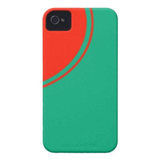teal orange circle iPhone 4 cover