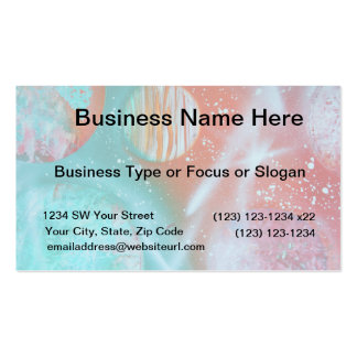 teal orange red planets spacepainting business card