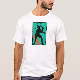 Teal orange tennis silhouette T-Shirt