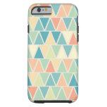Teal Orange Triangle Pattern iPhone 6 Case