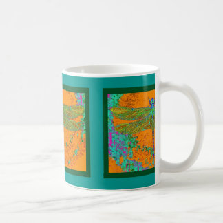 Teal-Orangy Dragonfly Gifts by Sharles Coffee Mug