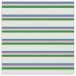 [ Thumbnail: Teal, Orchid, Light Grey, Green, and Mint Cream Fabric ]
