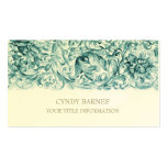 Teal Ornate Baroque Business Card