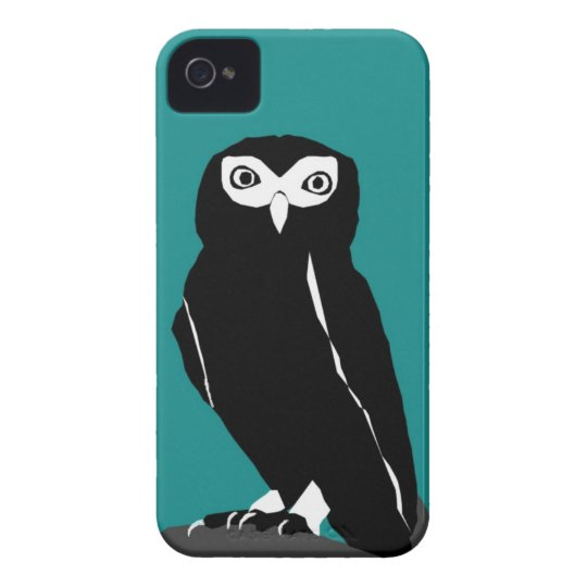 Teal Owl iPhone 4 Case
