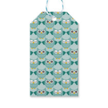 Teal Owls Gift Tags