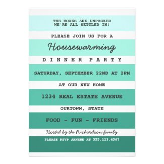 Teal Paint Sample Housewarming Party Personalized Invite