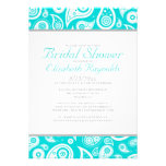 Teal Paisley Bridal Shower Invitations Personalized Invites