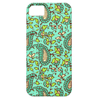 Teal Paisley iPhone 5 Case Mate ID