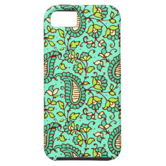 Teal Paisley iPhone 5 Case Mate Tough
