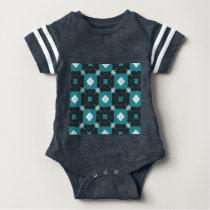 Teal pattern baby bodysuit