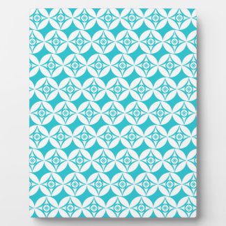 Teal Pattern Plaque