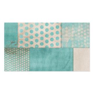 Teal Pattern Quilt Blocks Business Card