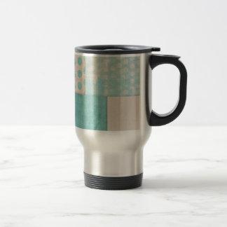Teal Pattern Quilt Blocks Coffee Mugs