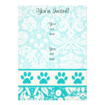 Teal Paw Print Announcement