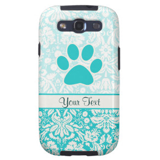 Teal Paw Print Samsung Galaxy S3 Cases