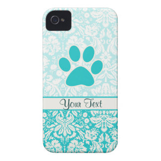 Teal Paw Print Case-Mate iPhone 4 Case