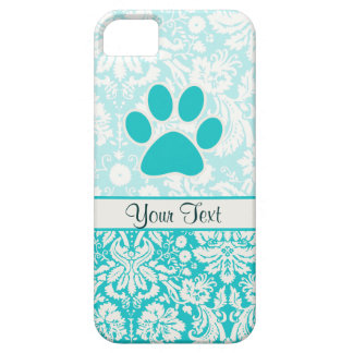 Teal Paw Print iPhone 5 Cases