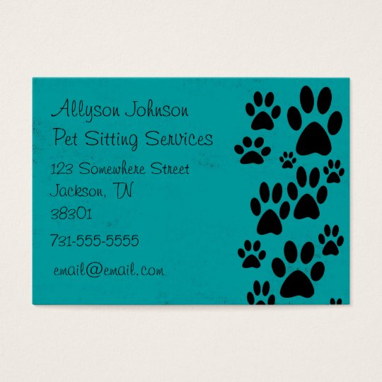 Teal Paws Business Cards