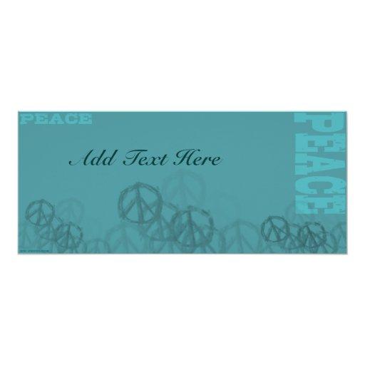 Teal Peace 2 Custom Invitations