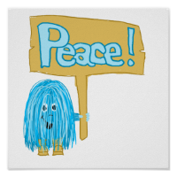 Teal Peace Posters
