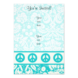 Teal Peace Sign Card