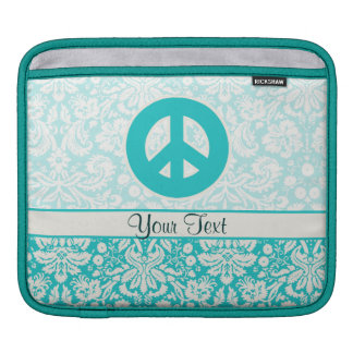 Teal Peace Sign iPad Sleeves